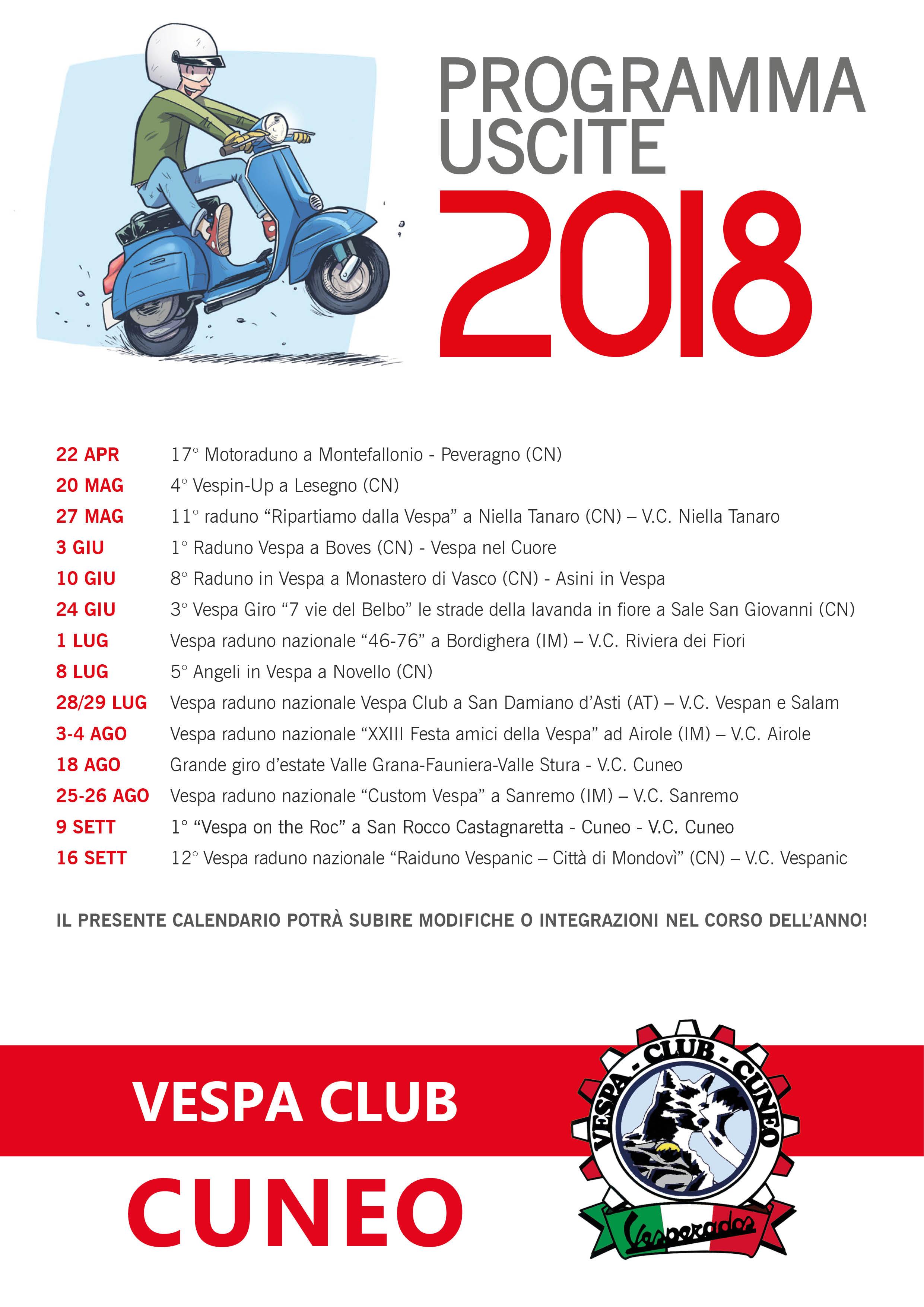 Programma vespa club cuneo for Vespa club volta mantovana